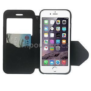 Peněženkové pouzdro s okýnkem na iPhone 6 a 6s - černé - 5