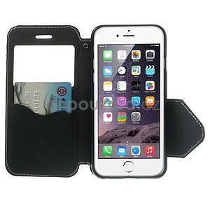 Peněženkové pouzdro s okýnkem na iPhone 6 a 6s - bílé - 5