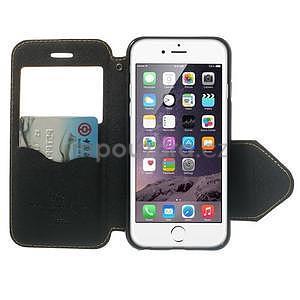 Peněženkové pouzdro s okýnkem na iPhone 6 a 6s - žluté - 5