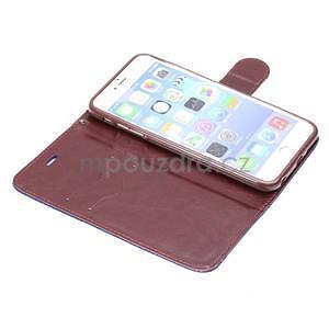 Elegantní peněženkové pouzdra pro iPhone 6 Plus a 6s Plus - černomodré - 5