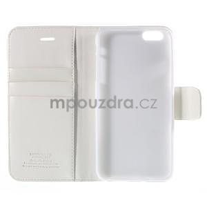 Peněženkové pouzdro pro iPhone 6 Plus a 6s Plus - bílé - 5