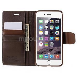 Peněženkové pouzdro pro iPhone 6 Plus a 6s Plus - hnědé - 5