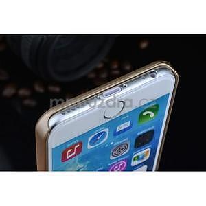 Stylový kryt s kovovými zády pro iPhone 6 Plus a 6s Plus - champagne - 5