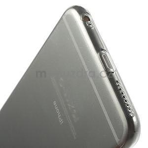 Ultra slim lesklý gelový obal na iPhone 6 Plus a 6s Plus - šedý - 5
