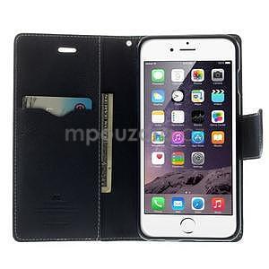 Peněženkové pouzdro pro iPhone 6 Plus a 6s Plus - azurové - 5