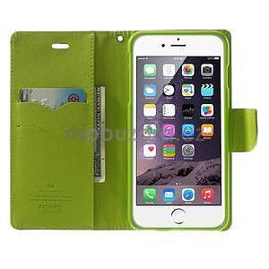 Peněženkové pouzdro pro iPhone 6 Plus a 6s Plus - tmavě modré - 5