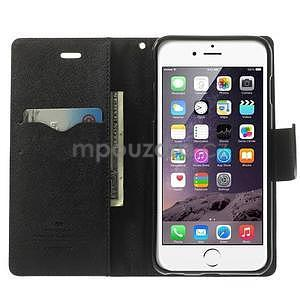 Peněženkové pouzdro pro iPhone 6 Plus a 6s Plus - hnědé/černé - 5