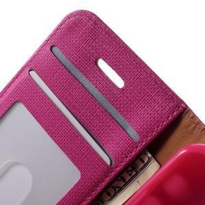 Cloth PU kožené pouzdro na iPhone SE / 5s / 5 - rose - 5