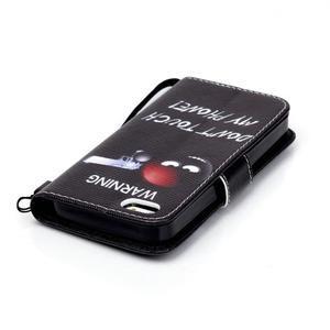 Peněženkové pouzdro na mobil iPhone SE / 5s / 5 - nešahat - 5
