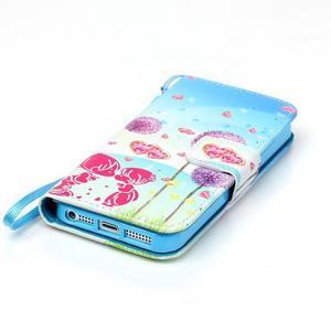 Peněženkové pouzdro na mobil iPhone SE / 5s / 5 - pampelišky - 5