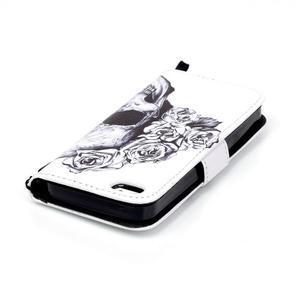 Peněženkové pouzdro na mobil iPhone SE / 5s / 5 - lebka - 5