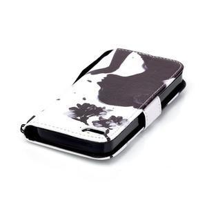 Peněženkové pouzdro na mobil iPhone SE / 5s / 5 - děvče s květinou - 5