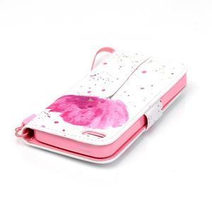 Peněženkové pouzdro na mobil iPhone SE / 5s / 5 - makový květ - 5