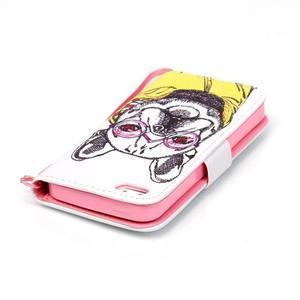 Peněženkové pouzdro na mobil iPhone SE / 5s / 5 - buldog - 5