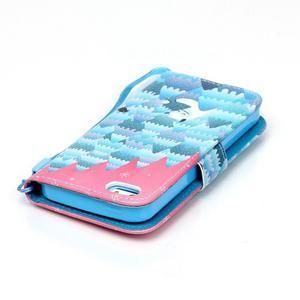 Peněženkové pouzdro na mobil iPhone SE / 5s / 5 - sněžný muž - 5