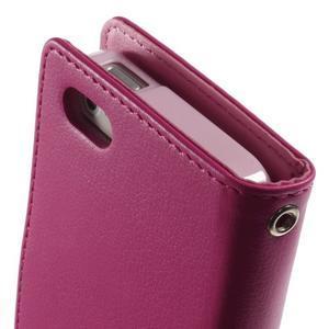 Rich diary PU kožené pouzdro na iPhone SE / 5s / 5 - rose - 5