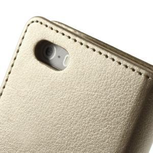 Rich diary PU kožené pouzdro na iPhone SE / 5s / 5 - zlaté - 5