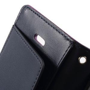 Rich diary PU kožené pouzdro na iPhone SE / 5s / 5 - fialové - 5