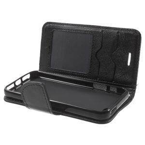 Cross PU kožené pouzdro na iPhone SE / 5s / 5 - černé - 5