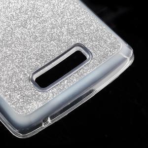 Povrchově třpytivý gelový obal na mobil Lenovo A2010 - stříbrný - 5