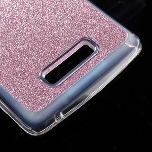 Povrchově třpytivý gelový obal na mobil Lenovo A2010 - rose - 5