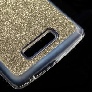Povrchově třpytivý gelový obal na mobil Lenovo A2010 - zlatý - 5