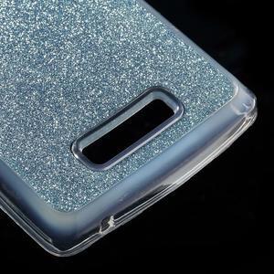 Povrchově třpytivý gelový obal na mobil Lenovo A2010 - světlemodrý - 5