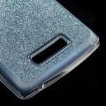 Povrchově třpytivý gelový obal na mobil Lenovo A2010 - světlemodrý - 5/5