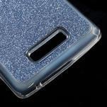 Povrchově třpytivý gelový obal na mobil Lenovo A2010 - tmavěmodrý - 5/5