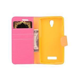 Clothy PU kožené na mobil Lenovo A2010 - rose - 5