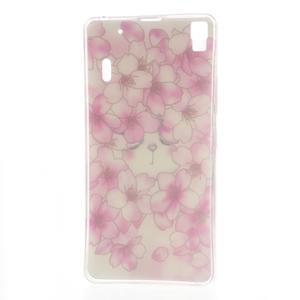Softy gelový obal na mobil Lenovo A7000 / K3 Note - květy švestky - 5