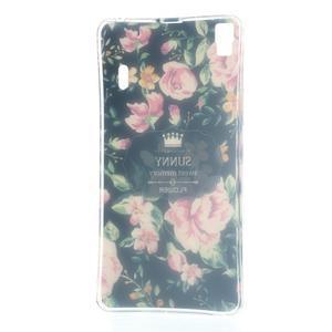 Květinový gelový obal na mobil Lenovo A7000 / K3 Note - černé pozadí - 5