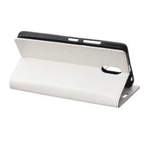 GX koženkové peněženkové na mobil Lenovo Vibe P1m - bílé - 5