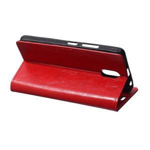 GX koženkové peněženkové na mobil Lenovo Vibe P1m - červené - 5