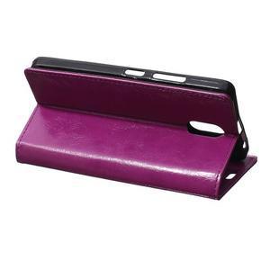 GX koženkové peněženkové na mobil Lenovo Vibe P1m - fialové - 5