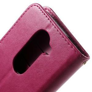 Buttefly PU kožené pouzdro na mobil LG Leon - rose - 5