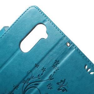 Buttefly PU kožené pouzdro na mobil LG Leon - modré - 5