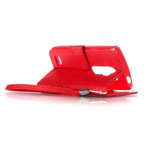 Magicfly pouzdro na mobil LG Leon - červené - 5
