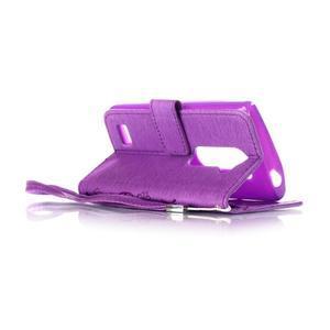 Magicfly pouzdro na mobil LG Leon - fialové - 5
