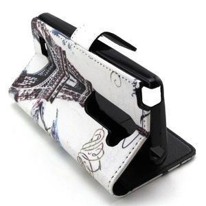 Style peněženkové pouzdro na LG Leon - Eiffelova věž - 5
