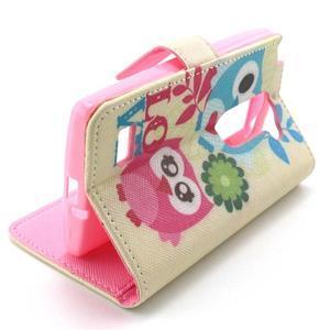 Style peněženkové pouzdro na LG Leon - zamilované sovy - 5
