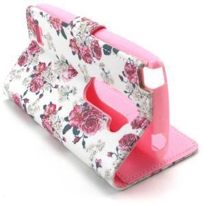 Style peněženkové pouzdro na LG Leon - květiny - 5