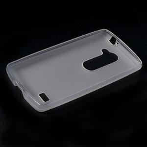 Matný gelový obal na mobil LG Leon - bílý - 5
