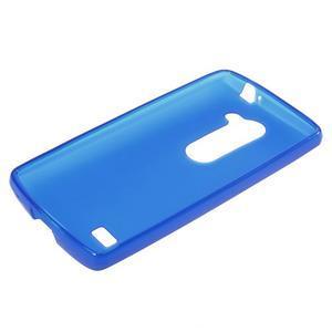 Matný gelový obal na mobil LG Leon - modrý - 5