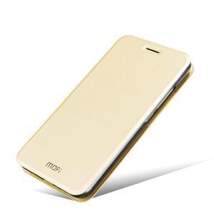 Vintage PU kožené pouzdro s kovovou výstuhou na Meizu MX5 -  zlaté - 5