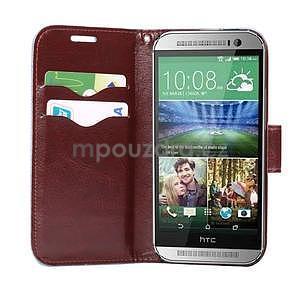 Květinové peněženkové pouzdro na HTC One Mini 2 - černé - 5