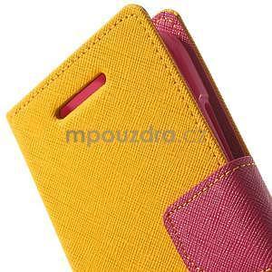 Style peněženkové pouzdro HTC One Mini 2 - žluté - 5
