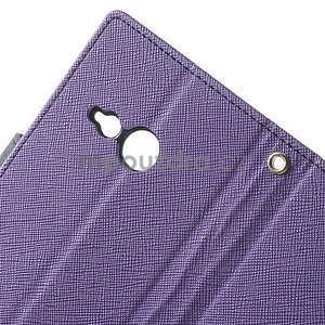 Style peněženkové pouzdro HTC One Mini 2 - fialové - 5