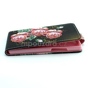 Flipové pouzdro na Huawei Ascend P7 - květy - 5