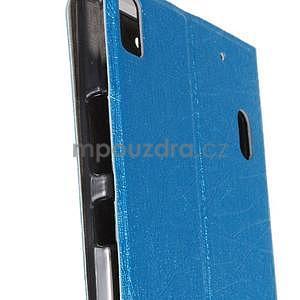 Klopové pouzdro na Lenovo A7000 a Lenovo K3 Note - světle modré - 5